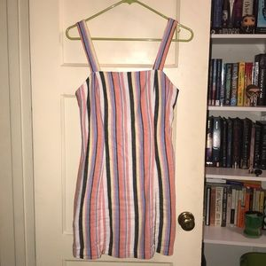 FOREVER 21 Pastel Striped Dress Size Small